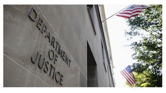 Fachada del edificio del Departamento de Justicia estadounidense.