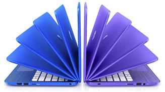 Nuevos portátiles HP Stream de vistosos colores.