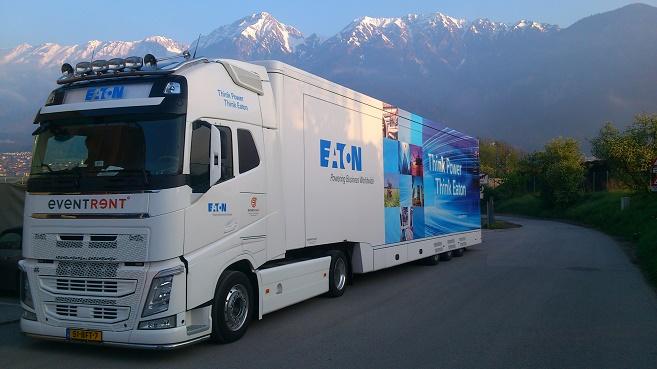 El cami�n tecnol�gico de Eaton llega a Espa�a